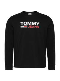 Tommy Jeans longsleeve van biologisch katoen zwart, Zwart