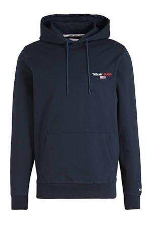 hoodie met biologisch katoen donkerblauw