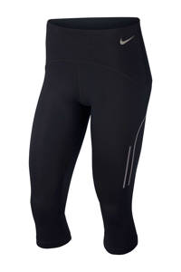Nike capri hardloopbroek zwart, Zwart