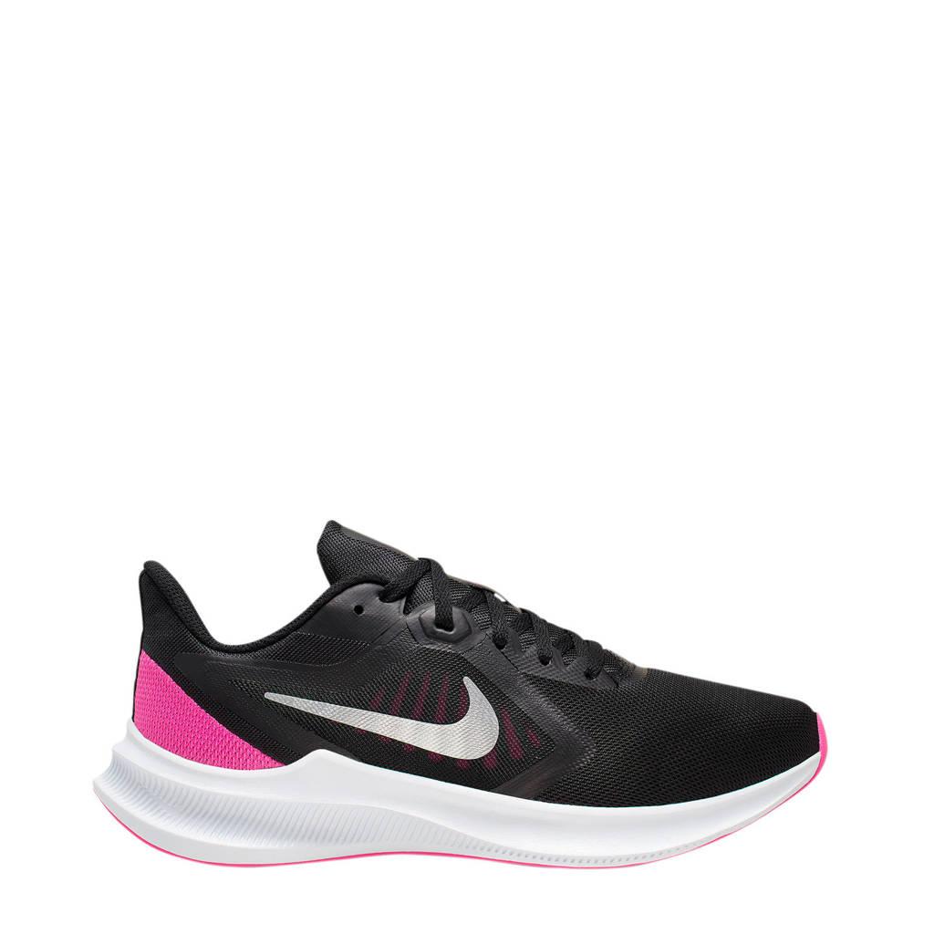 Nike Downshifter 10  hardloopschoenen zwart/fuchsia/wit, Zwart/fuchsia/wit