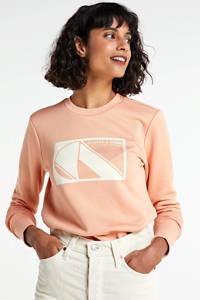 Scotch & Soda sweater met printopdruk koraal, Koraal