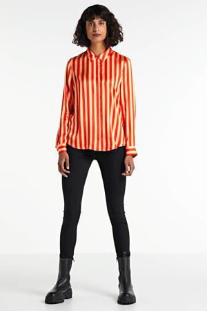 gestreepte blouse rood/oranje