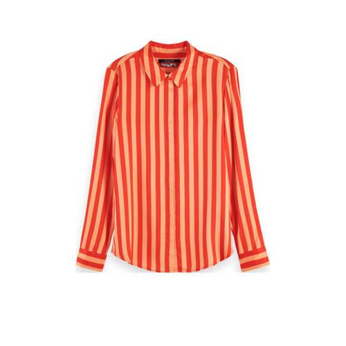 Scotch & Soda gestreepte blouse rood/oranje