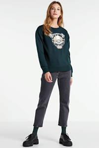 Scotch & Soda sweater met borduursels donkergroen, Donkergroen