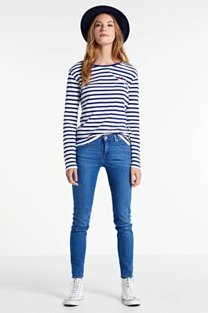 low waist skinny jeans donkerblauw