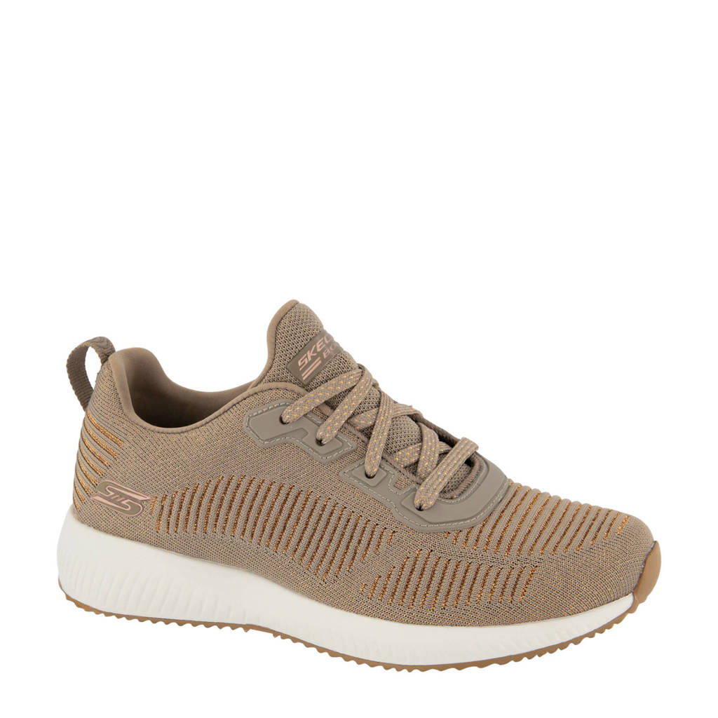 Skechers   sneakers taupe, Taupe/goud