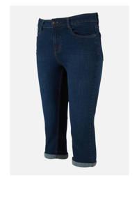 LOLALIZA slim fit capri jeans donkerblauw, Donkerblauw
