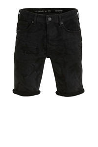 C&A The Denim slim fit jeans short zwart, Zwart