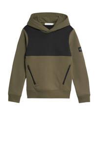 CALVIN KLEIN JEANS hoodie army groen/zwart, Army groen/zwart