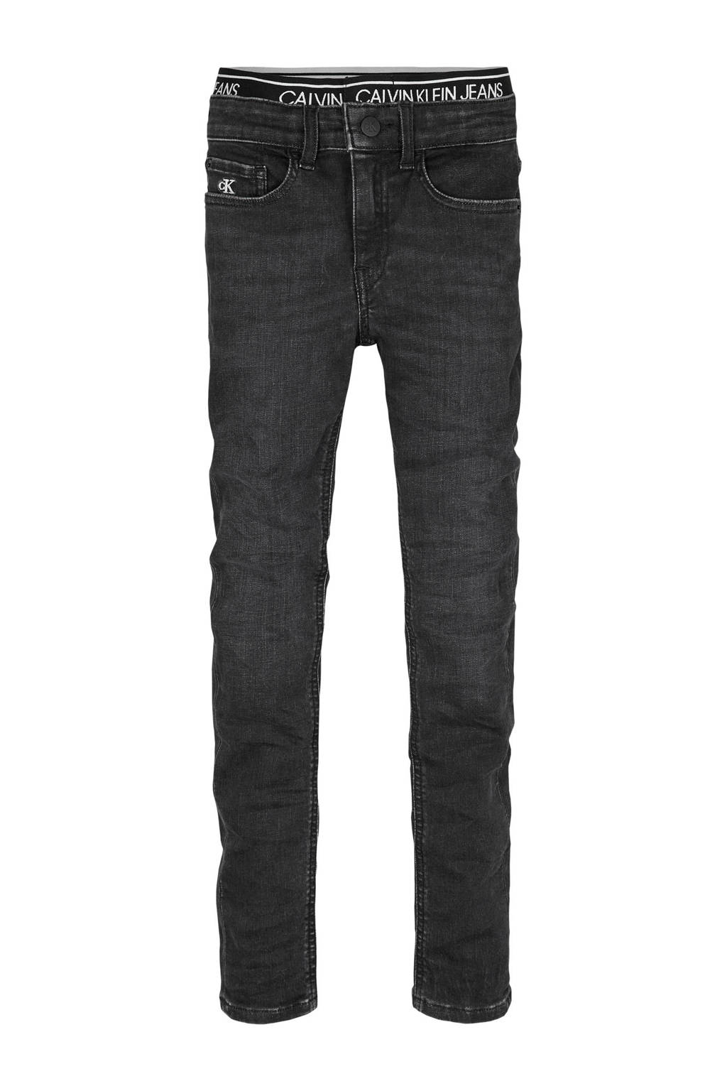 CALVIN KLEIN JEANS super skinny jeans met borduursels dark denim, Dark denim
