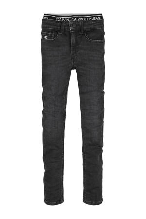super skinny jeans met borduursels dark denim