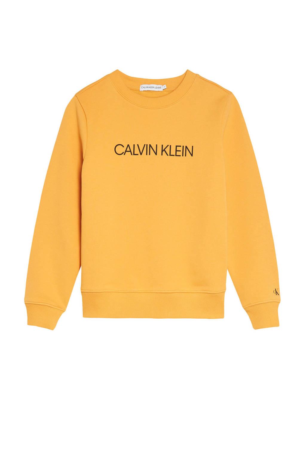 CALVIN KLEIN JEANS sweater met logo geel, Geel