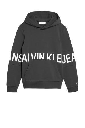 hoodie met logo zwart