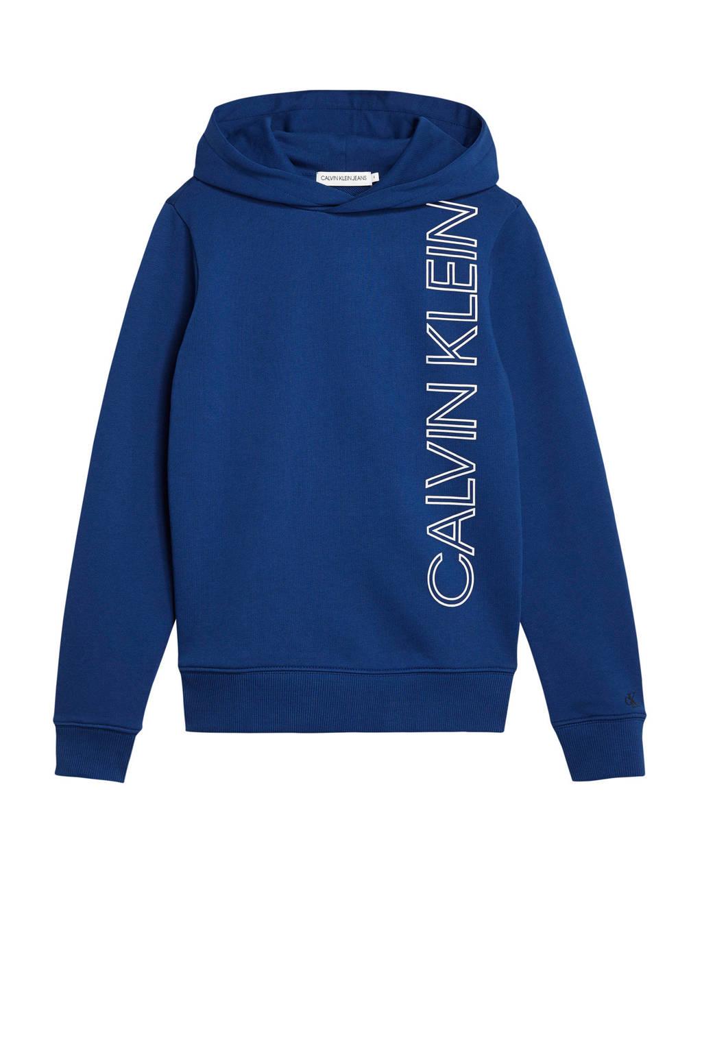 CALVIN KLEIN JEANS hoodie met logo blauw, Blauw
