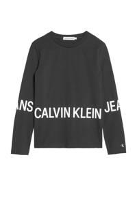 CALVIN KLEIN JEANS longsleeve met logo zwart/wit, Zwart/wit