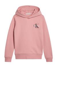 CALVIN KLEIN JEANS hoodie met logo oudroze, Oudroze