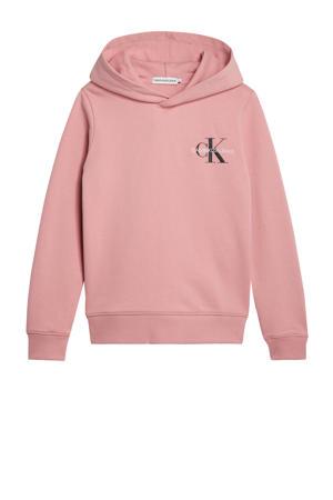 hoodie met logo oudroze