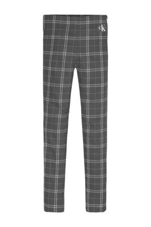 geruite broek zwart/wit