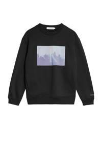 CALVIN KLEIN JEANS sweater met logo zwart, Zwart