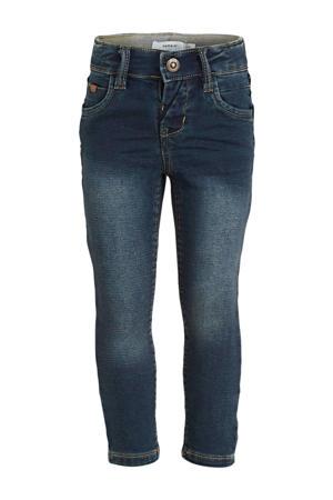 slim fit jeans Theo met biologisch katoen dark denim