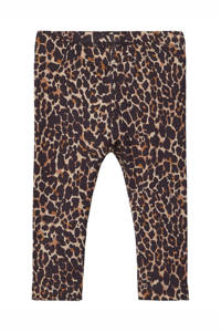 NAME IT BABY baby legging Kala met panterprint bruin, Bruin