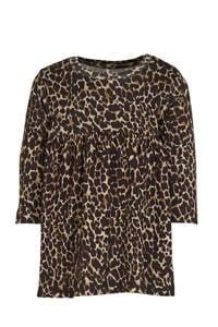 NAME IT BABY A-lijn jurk Kala met biologisch katoen bruin/zwart/beige, Bruin/zwart/beige