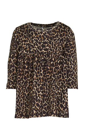 A-lijn jurk Kala met biologisch katoen bruin/zwart/beige