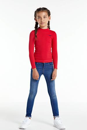skinny jeans Polly met biologisch katoen stonewashed