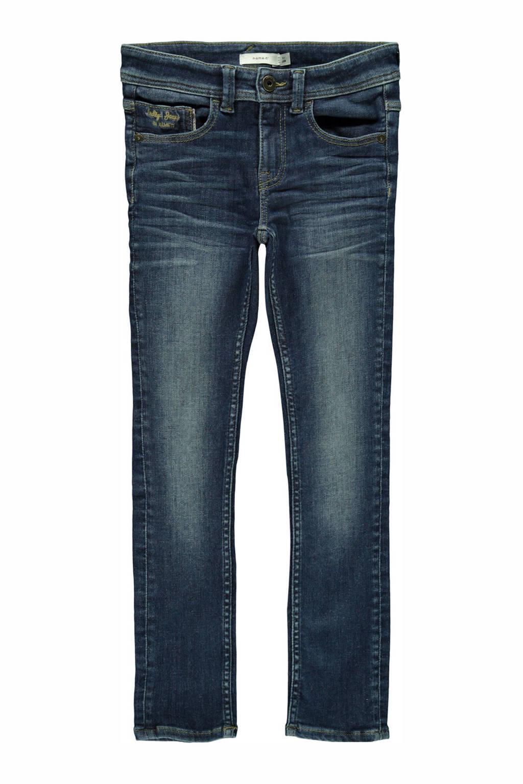 NAME IT KIDS X-slim fit jeans Theo met biologisch katoen stonewashed, Stonewashed