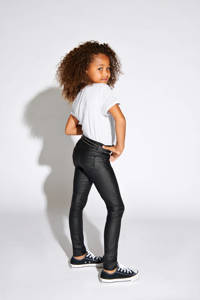 KIDS ONLY coated skinny broek Royal zwart, Zwart