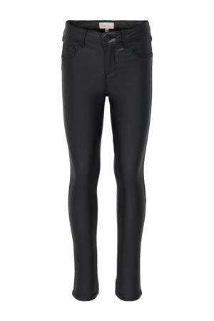 coated skinny broek Royal zwart