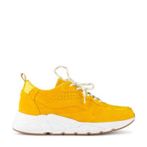 suède sneakers okergeel