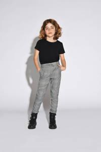 KIDS ONLY geruite broek Pop grijs melange/zwart/wit, Grijs melange/zwart/wit