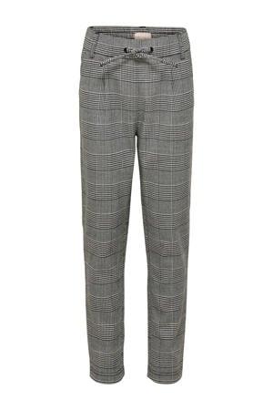 geruite broek Pop grijs melange/zwart/wit