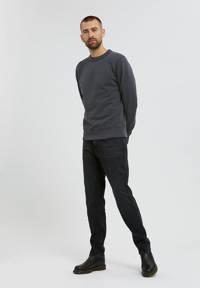 ARMEDANGELS sweater Kaarlsson van biologisch katoen gewassen zwart, Gewassen zwart