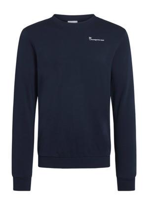 sweater Elm van biologisch katoen donkerblauw