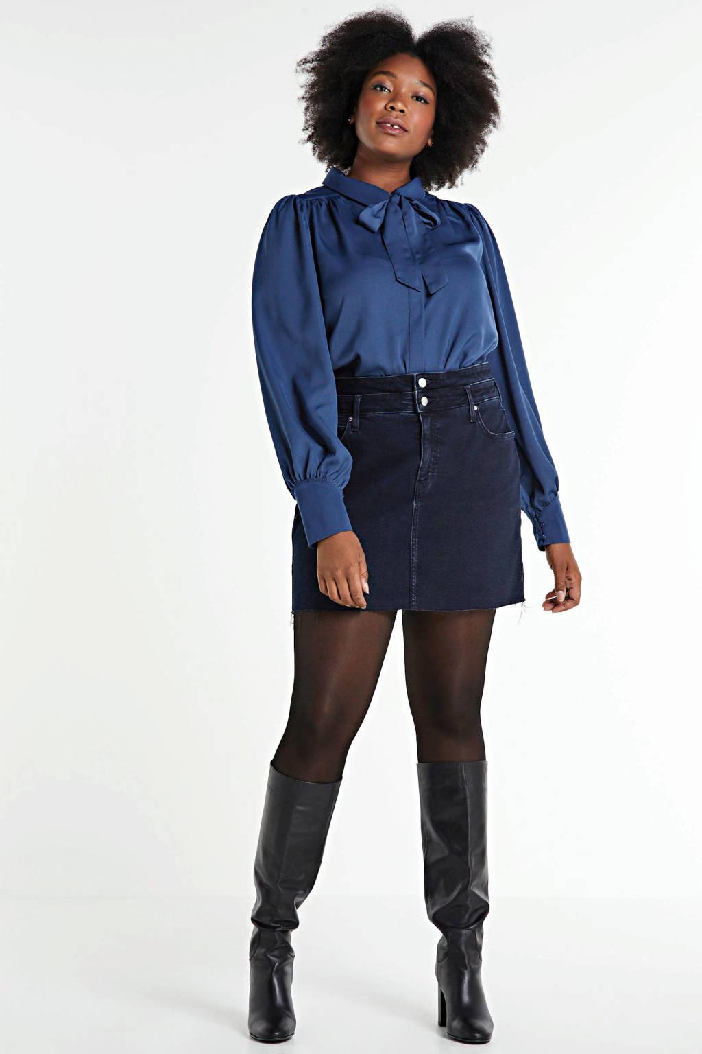 CALVIN KLEIN Plus rok zwart, Zwart