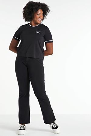 T-shirt met biologisch katoen ck black