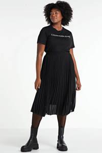 CALVIN KLEIN Plus T-shirt van biologisch katoen ck black, CK BLACK