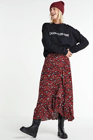 sweater met logo ck black