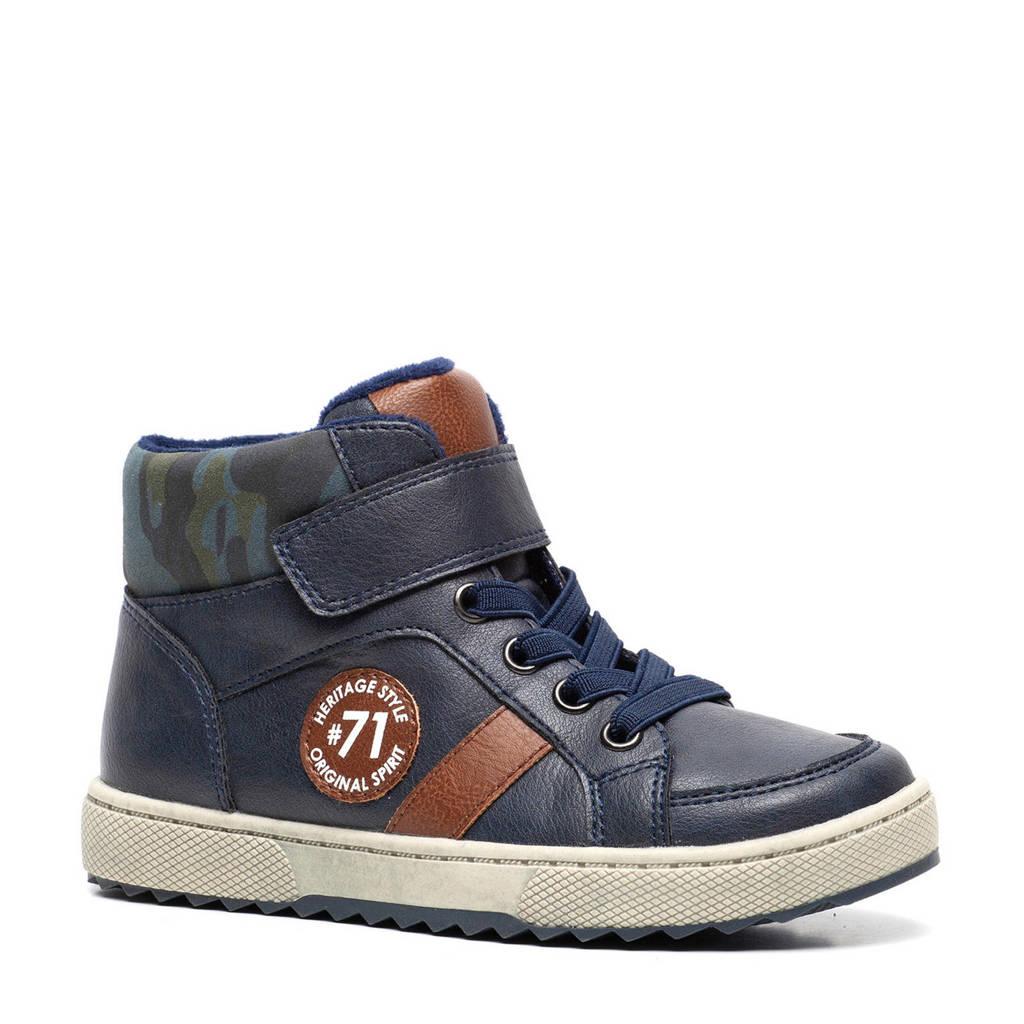Scapino Blue Box   hoge sneakers donkerblauw, Blauw
