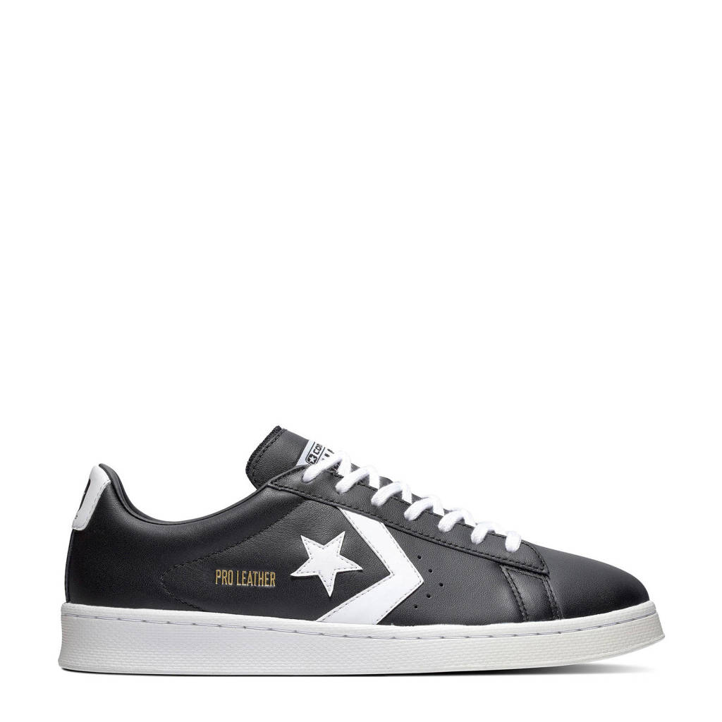Converse Pro Leather OX  sneakers zwart, Zwart/wit