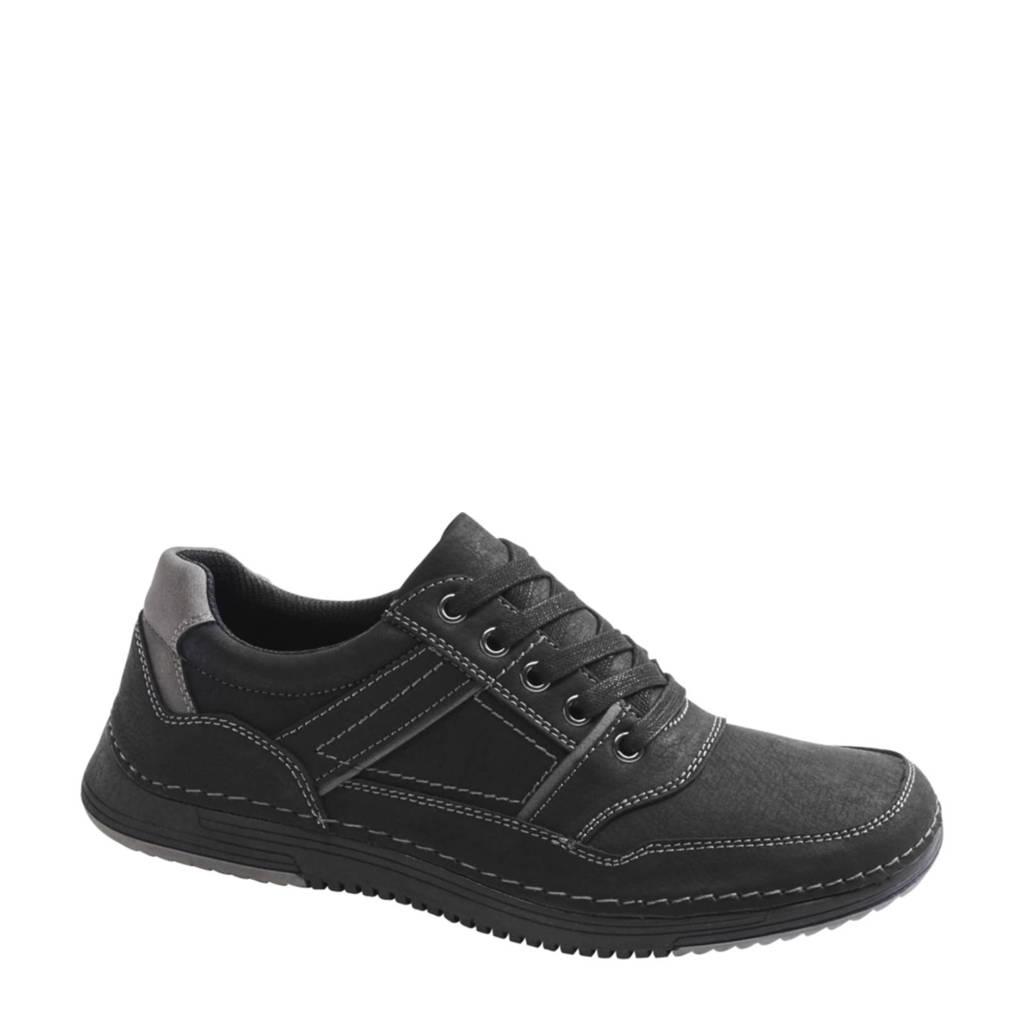 Easy Street   veterschoenen zwart, Zwart