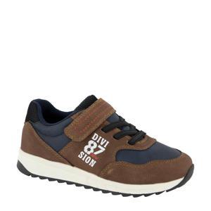 sneakers bruin/blauw