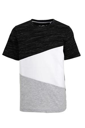T-shirt zwart/wit/grijs