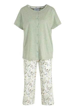 pyjama lichtgroen/ecru