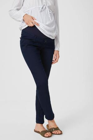 low waist slim fit zwangerschapsbroek donkerblauw