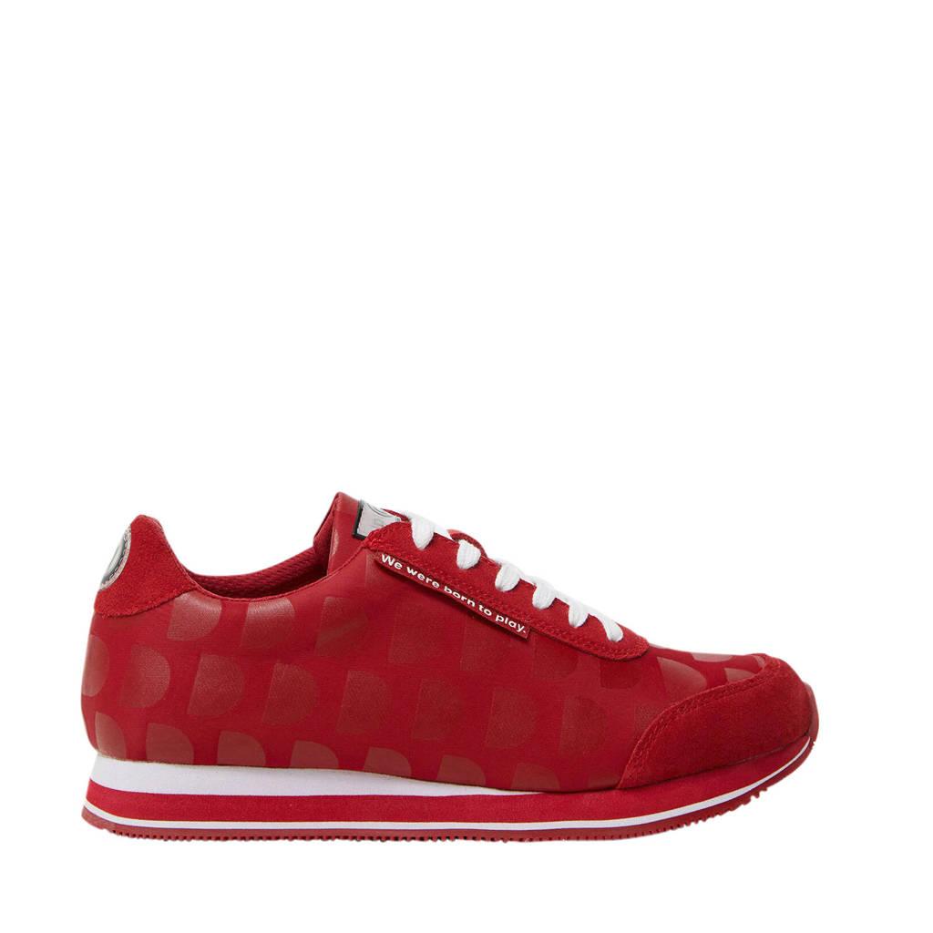 Desigual   sneakers met stippen rood, Rood