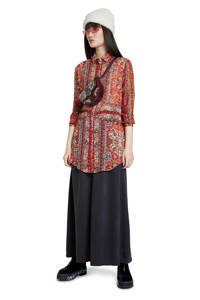 Desigual blouse met all over print rood/multi, Rood/multi