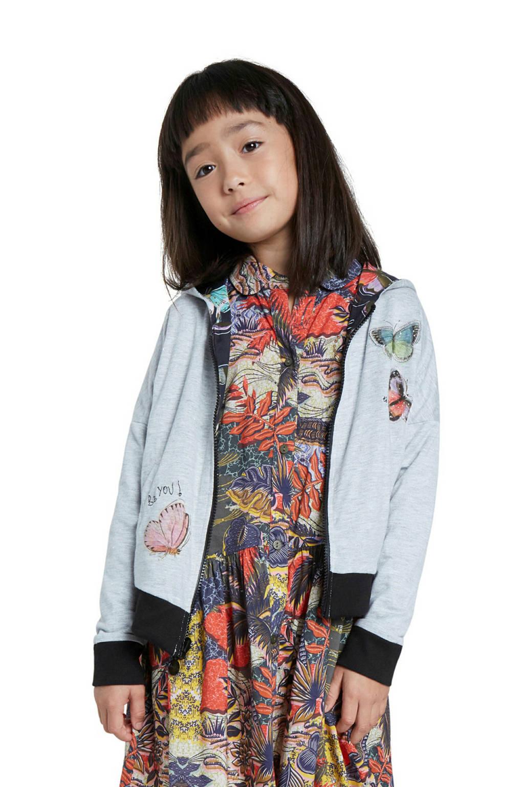 Desigual reversible vest met all over print zwart/grijs/multicolor, Zwart/grijs/multicolor